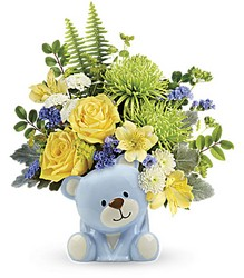 Joyful Blue Bear Bouquet Flower Power, Florist Davenport FL