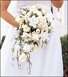 White Cascade Bridal Bouquet Flower Power, Florist Davenport FL