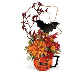 Halloween  M&M Batmug Bouquet Flower Power, Florist Davenport FL